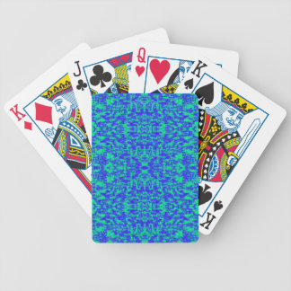 Abstract Fractal In Blue And Green Bicycle Playing Cards
