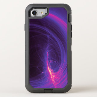 Abstract Fractal In Purple and Pink OtterBox Defender iPhone 8/7 Case