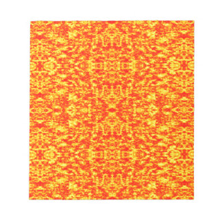 Abstract Fractal In Red And Orange Notepads