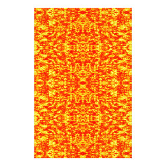 Abstract Fractal In Red And Orange Stationery
