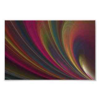 Abstract Fractal Lines Poster