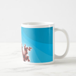 Abstract Fractal Maroon Lightening Blue Coffee Mug