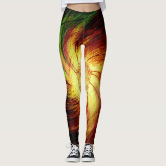 Abstract Fractal Pattern #5 Leggings