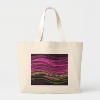 Abstract Fractal Pink and Green Large Tote Bag
