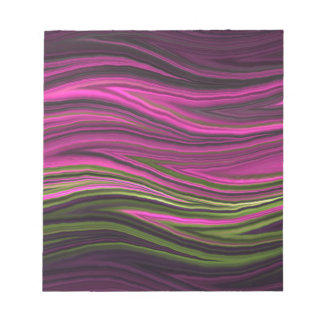 Abstract Fractal Pink and Green Notepads