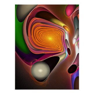 Abstract fractal poster Field of Energy