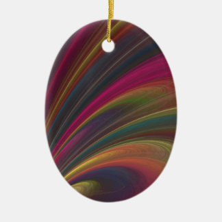 Abstract Fractal Rainbow Ornament