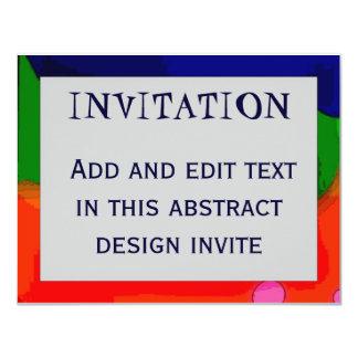 Abstract Frame 4, INVITATION, 11 Cm X 14 Cm Invitation Card