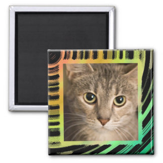 abstract frame square magnet