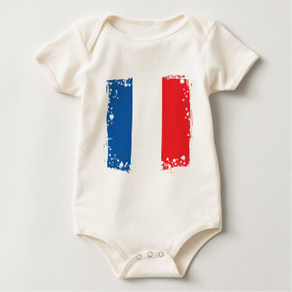 Abstract France Flag, French Colors Cloth Baby Bodysuit