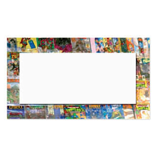 abstract from comic book store business card template