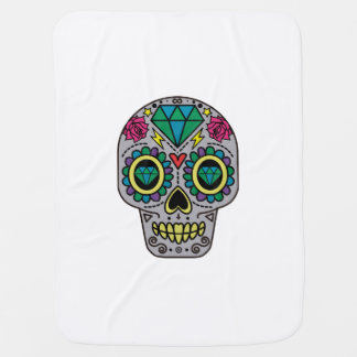 Abstract Funky Colorful sugar skull Baby Blanket
