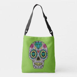 Abstract Funky Colorful sugar skull Crossbody Bag