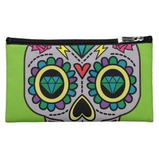 Abstract Funky Colorful sugar skull Makeup Bag