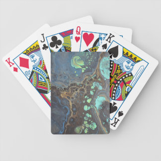 Abstract Funky Galaxy Bicycle Playing Cards