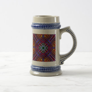 Abstract Futuristic Fractal Beer Steins