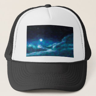 Abstract Galactic Nebula with cosmic cloud  14 Trucker Hat