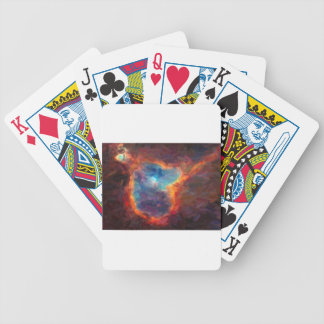 Abstract Galactic Nebula with cosmic cloud 4 Bicycle Playing Cards