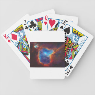 Abstract Galactic Nebula with cosmic cloud 4a Bicycle Playing Cards
