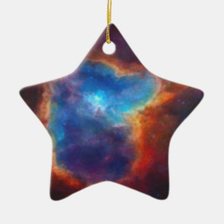Abstract Galactic Nebula with cosmic cloud 4a Ceramic Ornament