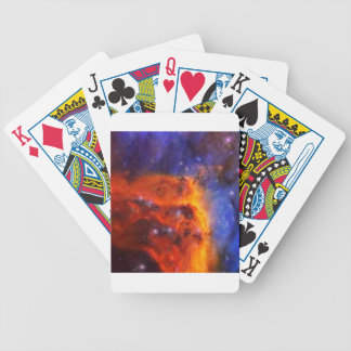 Abstract Galactic Nebula with cosmic cloud 5 Bicycle Playing Cards