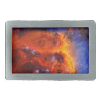Abstract Galactic Nebula with cosmic cloud 5 Rectangular Belt Buckles