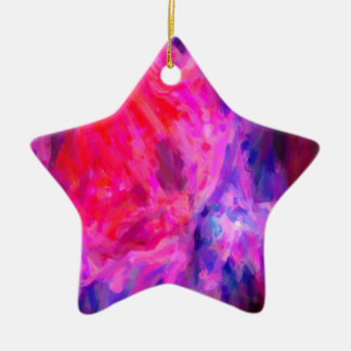 Abstract Galactic Nebula with cosmic cloud 6   24x Ceramic Star Decoration
