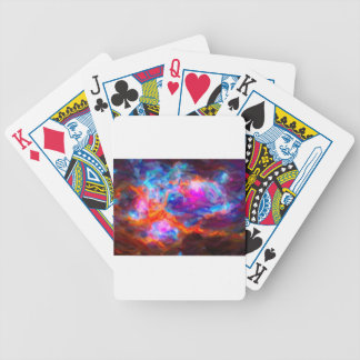 Abstract Galactic Nebula with cosmic cloud 7   24x Bicycle Playing Cards