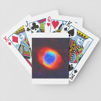Abstract Galactic Nebula with cosmic cloud 9 Bicycle Playing Cards