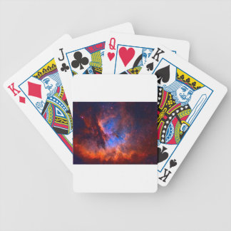 Abstract Galactic Nebula with cosmic cloud Bicycle Playing Cards