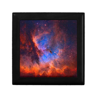 Abstract Galactic Nebula with cosmic cloud Gift Box