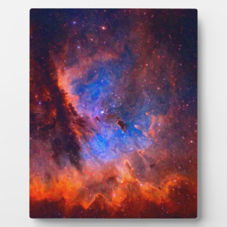 Abstract Galactic Nebula with cosmic cloud Plaque