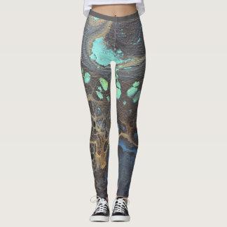Abstract Galaxy Leggings