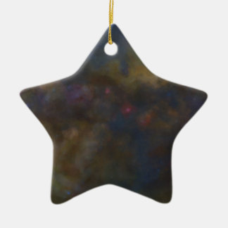 Abstract Galaxy with cosmic cloud sml Ceramic Star Decoration