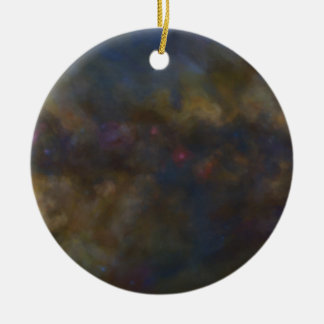 Abstract Galaxy with cosmic cloud sml Round Ceramic Decoration