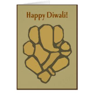 Abstract Ganesh Diwali Card