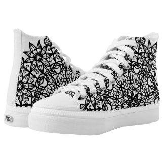 Abstract Garden Flower Mandala Color Me shoes Printed Shoes