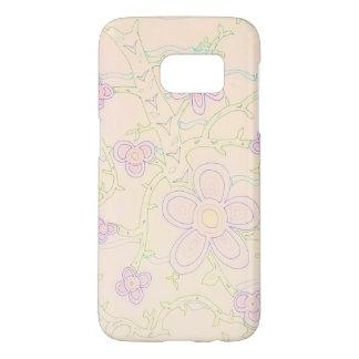 Abstract Garden Galaxy S7 Case (Pastel)