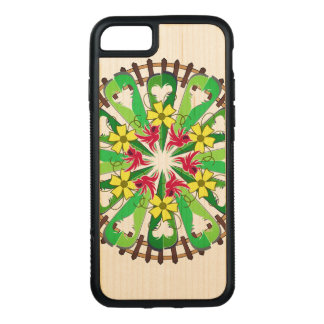 Abstract Garden Illustration Carved iPhone 7 Case