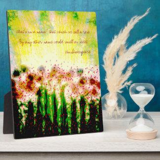 Abstract Garden Landscape Art Plaque