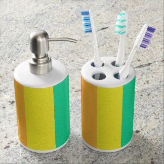 Abstract Gen Land Soap Dispenser And Toothbrush Holder