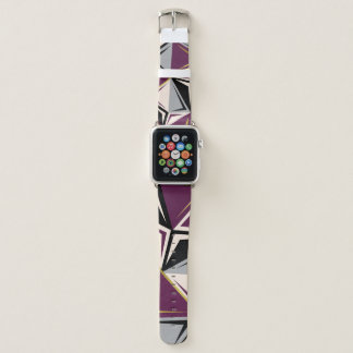 abstract geometric apple watch band