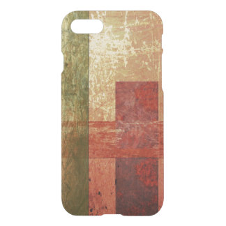 Abstract Geometric Art Grunge Red Orange Green iPhone 7 Case