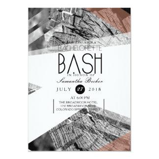 Abstract Geometric Bachelorette Bash | Chic Party 13 Cm X 18 Cm Invitation Card