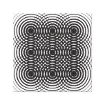 abstract geometric black and white design canvas prints