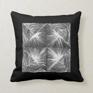 abstract geometric blackandwhite cushion