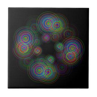 Abstract geometric circles. ceramic tile