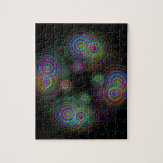 Abstract geometric circles. jigsaw puzzle