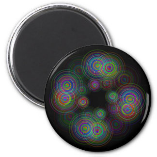 Abstract geometric circles. magnet