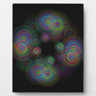 Abstract geometric circles. plaque